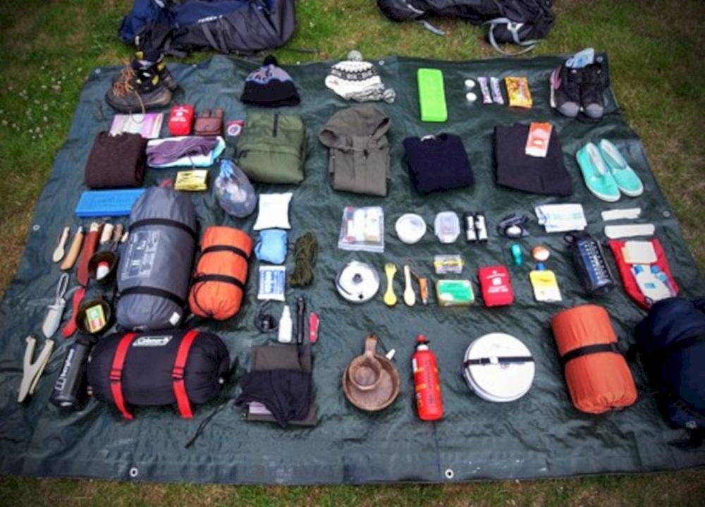 various camping items