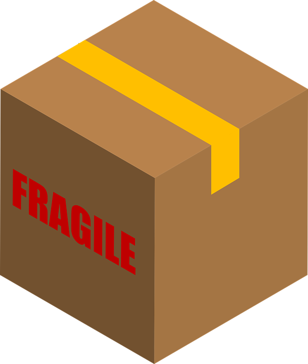 a box labeled fragile