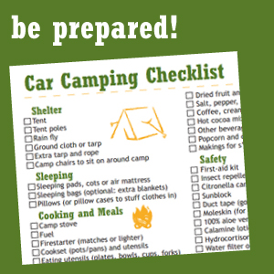 camping preperation checklist
