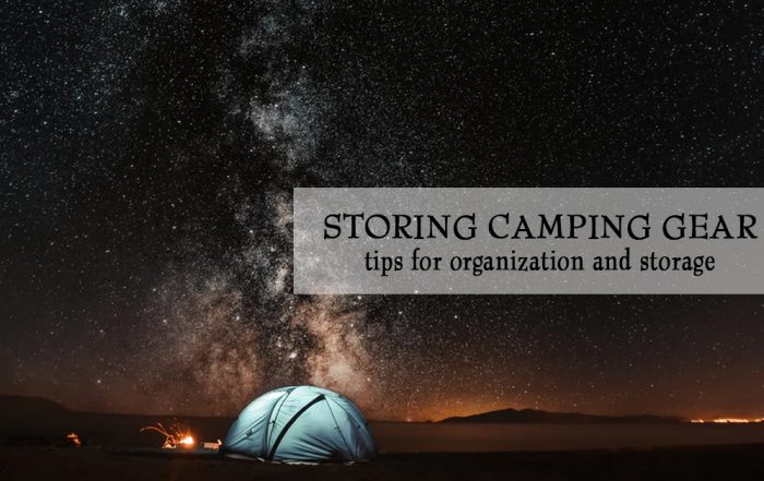 ways to store camping gear