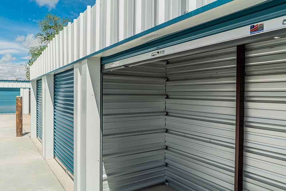 empty mini self storage unit