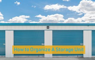how to organize a storage unit