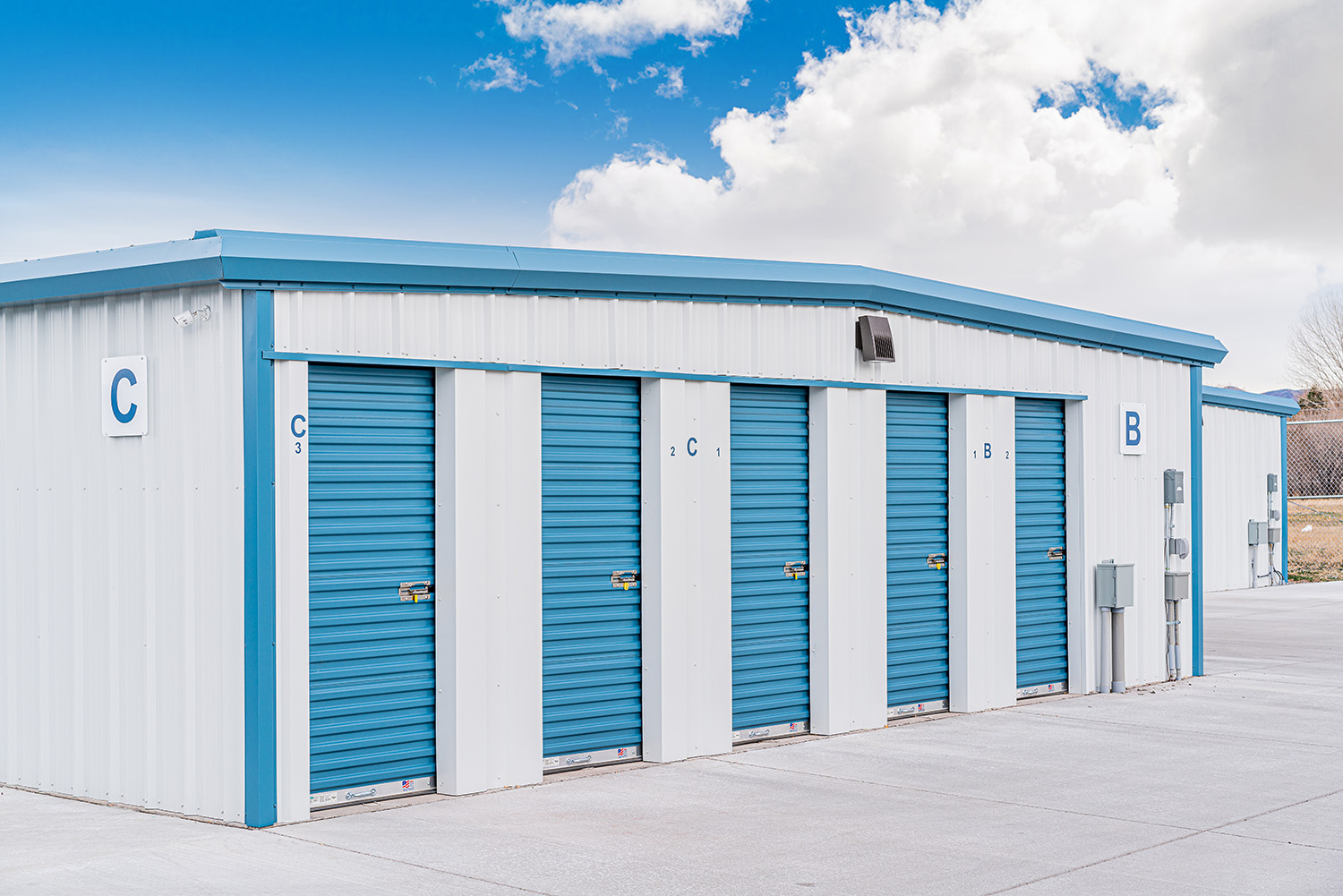 5'x10' Storage Units with 3 Foot Doors