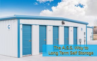 All Secure Storage units ready for your long term self storage needs.