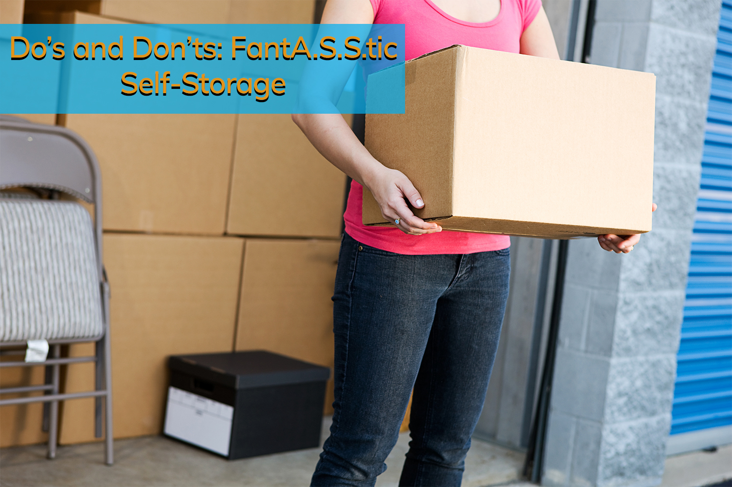 All Secure Storage customer packing her self-storage unit the right way.