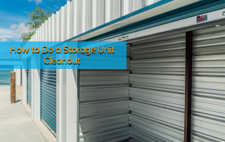 All secure Storage unit open and complete of a storage unit cleanout.